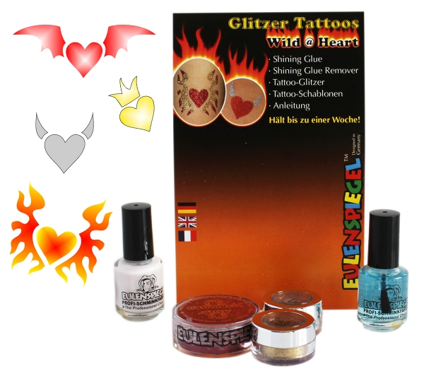 Glitzer Tattoo-Set Wild @ Heart